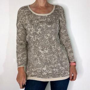 Simply Vera Glitter Camo Cream/Gold Sweater